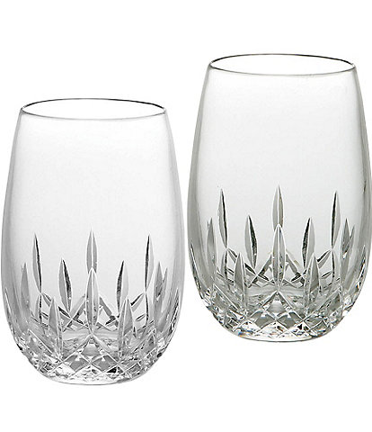 Waterford Lismore Essence Stemless Crystal White Wine Glasses, Set of 2