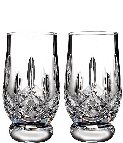 Waterford Lismore Footed Crystal Tasting Tumbler Pair