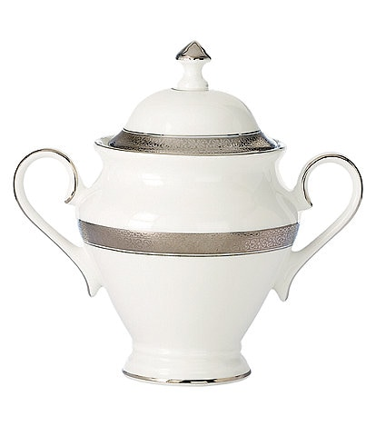 Waterford Newgrange Platinum Celtic Scroll Bone China Sugar Bowl with Lid