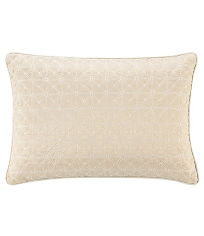 Waterford Olann Dupioni Quilted Breakfast Pillow