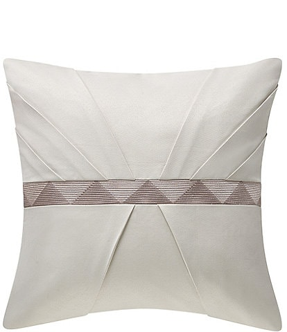 Waterford Patrizia Pleated Embroidered Square Pillow
