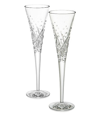 Waterford Wishes Happy Celebrations Crystal Flute Pair