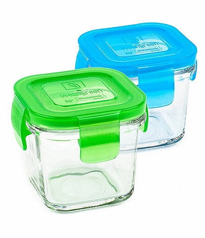 Wean Green 4oz Tempered Glass 2-Pack Wean Cube