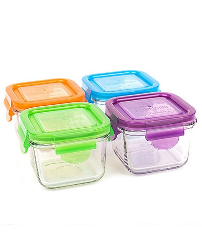 Wean Green 7oz Tempered Glass Snack Cube 4-Pack