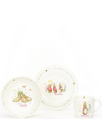 Wedgwood Baby Girls Peter Rabbit 3-Piece Dishware Gift Set