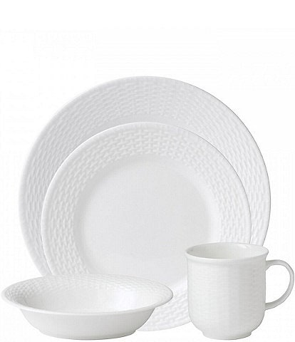 Wedgwood Nantucket Basket Sculpted Bone China 4-Piece Place Setting