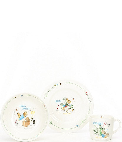 Wedgwood Baby Boys Peter Rabbit 3-Piece Dishware Gift Set