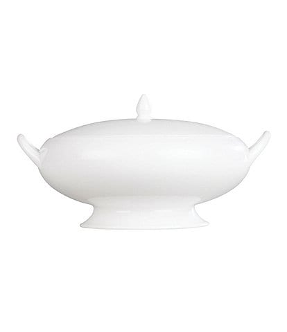 Wedgwood White Bone China Covered Vegetable Bowl