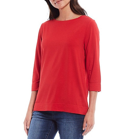 Westbound 3/4 Sleeve Boat-Neck Tee