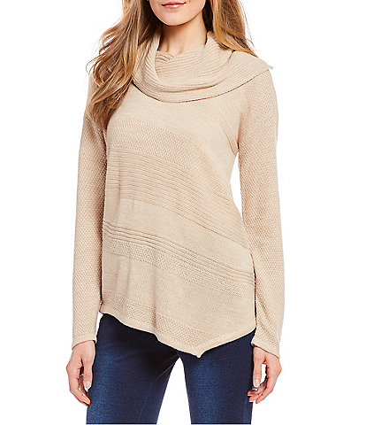 Westbound Asymmetric Cowl Neck Sweater