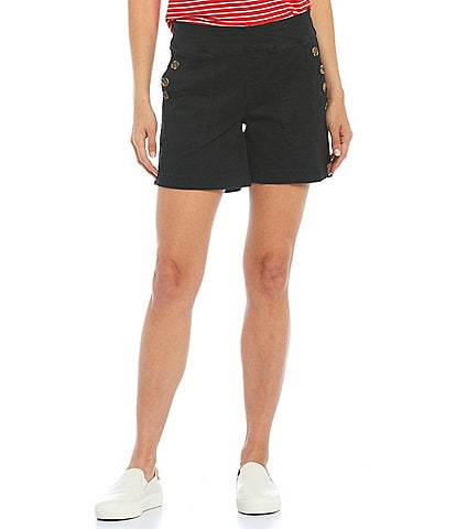 Westbound Button Pocket Detail Pull-On Shorts