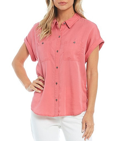 Westbound Button Up Short Sleeve Two Front Pocket Camp Shirt