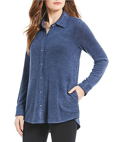 Westbound Cozy Button Front Shirt