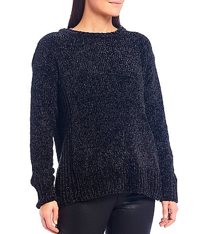 Westbound Petite Size Chenille Crew Neck Sweater