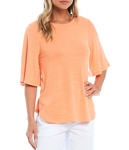 Westbound Petite Size Flounce Short Sleeve Top