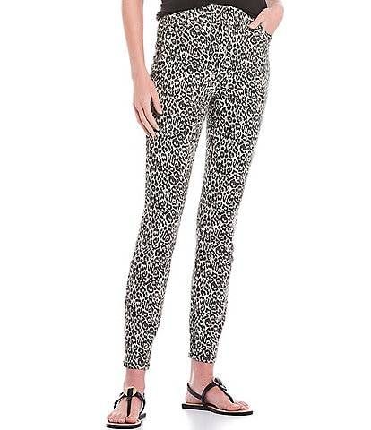 Westbound Petite Size Grey Cheetah High Rise Skinny Jeggings