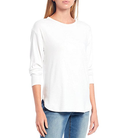 Westbound Petite Size Long Sleeve Crew Neck Tee