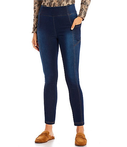 Westbound Petite Size the ESSENTIAL High Rise Skinny Leg Pull-On Leggings