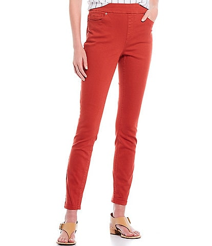 Westbound Petite Size the HIGH RISE fit Cotton Blend Skinny Pull-On Pants