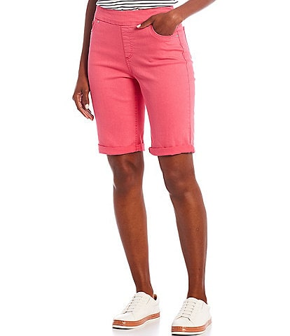 Westbound Petite Size the HIGH RISE fit Pull-On Bermuda Shorts