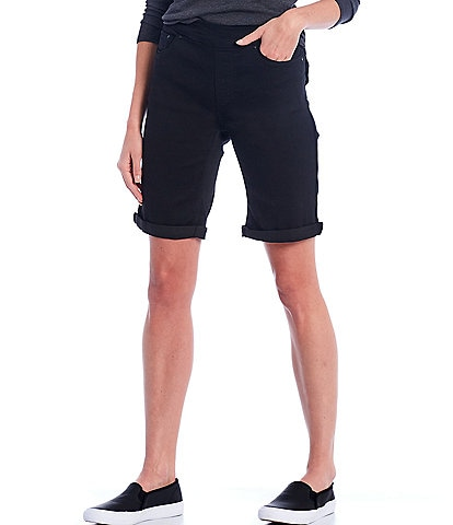 Westbound Petite Size the High Rise fit Pull-On Pocketed Bermuda Shorts