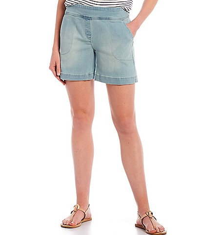 Westbound Petite Size the PARK AVE fit Denim Shorts