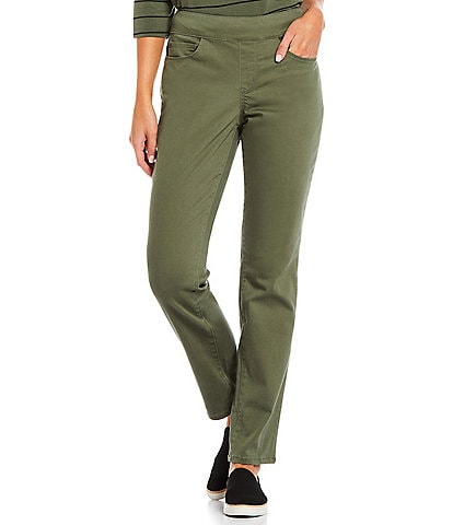 Westbound Petite Size The PARK AVE Fit Mid Rise Straight Leg Pants