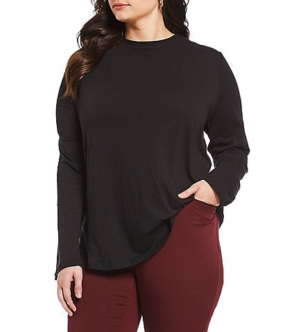 Westbound Plus Size Long Sleeve Crew Tee