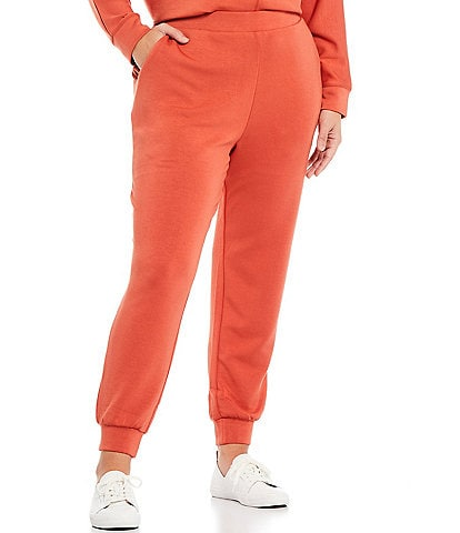 Westbound Plus Size Soft Touch Coordinating Pull-On Joggers