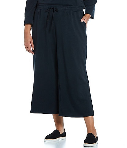 Westbound Plus Size Soft Touch Wide Leg Cropped Pants