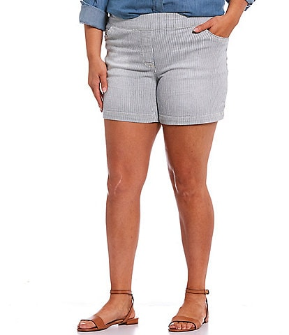 Westbound Plus Size Stripe the PARK AVE fit Shorts
