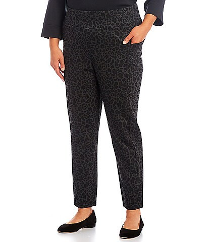 Westbound Plus Size The ESSENTIAL High Rise Leopard Pull-On Leggings