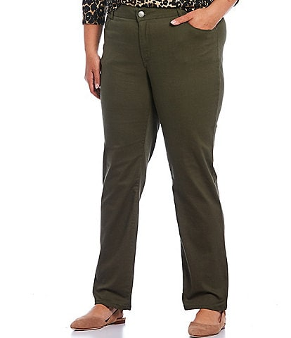 Westbound Plus Size THE FIT FORMULA Slim Straight Pants