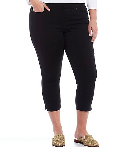 Westbound Plus Size the HIGH RISE fit Black Crop Pants