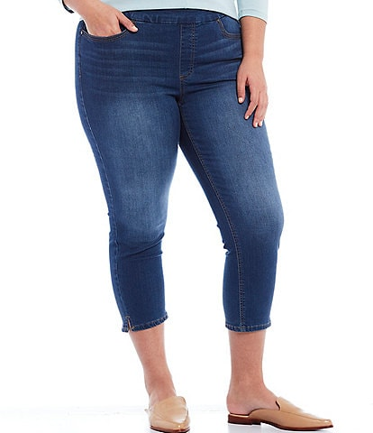 Westbound Plus Size the HIGH RISE fit Denim Cropped Pants