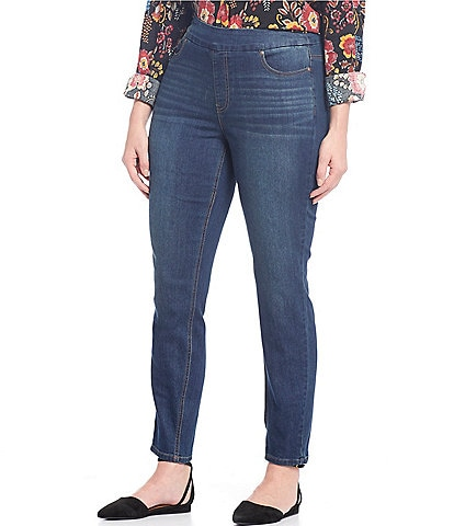 Westbound Plus Size the HIGH RISE fit Denim Skinny Pull-On Pants