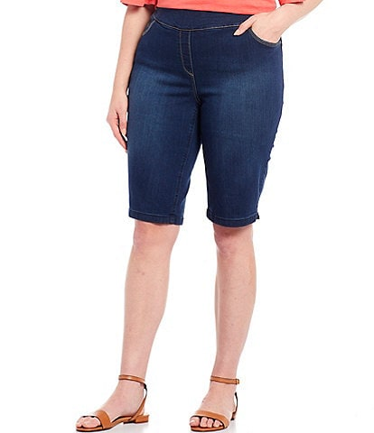 Westbound Plus Size the PARK AVE fit Denim Capri Skimmer