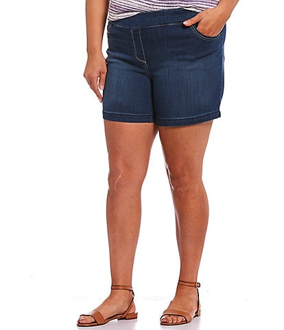 Westbound Plus Size the PARK AVE fit Pull-On Shorts