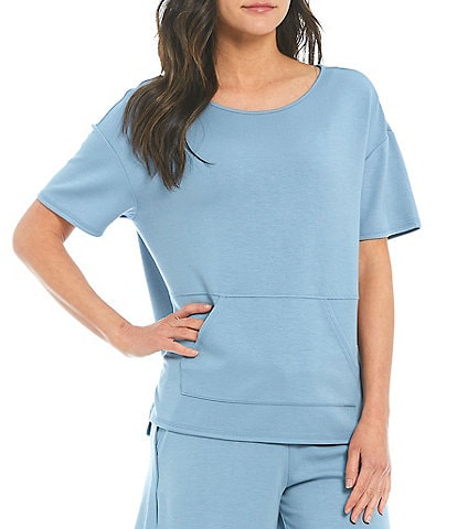 Westbound Soft Cozy Short Sleeve Jewel Neck Pullover