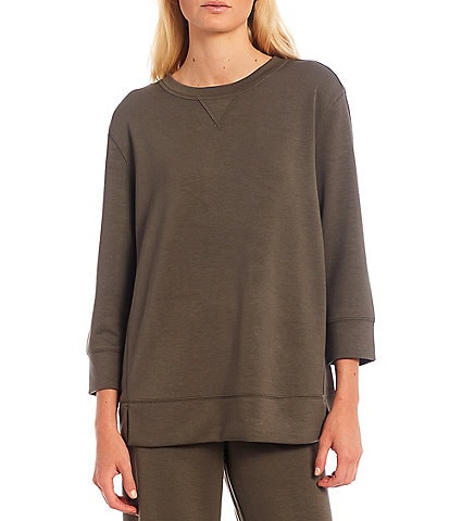 Westbound Soft Touch Crew Neck 3/4 Sleeve Pullover