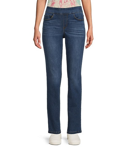 Westbound the PARK AVE fit Denim Mid Rise Straight Leg Pull-On Pants