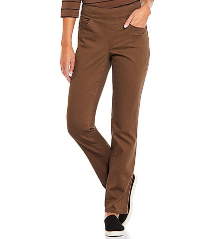 Westbound the PARK AVE fit Mid Rise Straight Leg Pull-On Pants