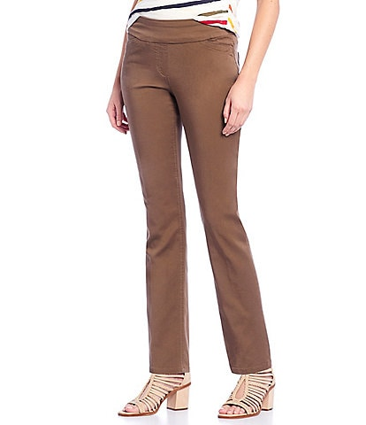 Westbound the PARK AVE fit Slim Straight Leg Pull-On Pants