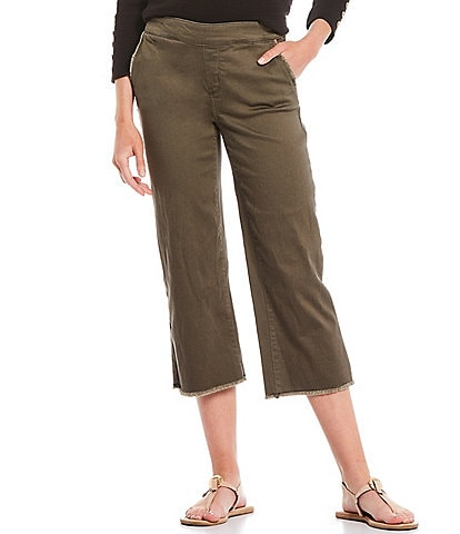 Westbound the PARK AVE fit Wide Leg Crop Mid Rise Jeans