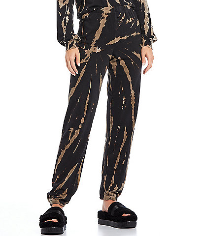 WILDFOX Boneyard Abstract Easy Coordinating Ankle Length Pull-On Sweatpants