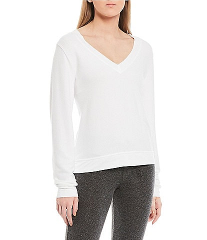 WILDFOX Deep V-Neck Baggy Beach French Terry Pullover