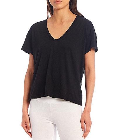 WILDFOX Knit Chrissy V-Neck Short Sleeve Coordinating Tee