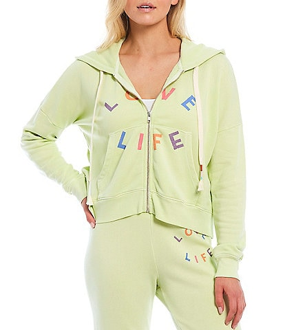 WILDFOX Knit Love Life Long Sleeve Cropped Jacket