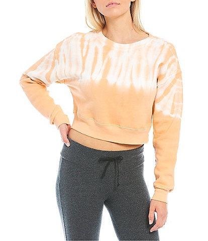 WILDFOX Knit Melon Wash Regal Long Sleeve Pullover
