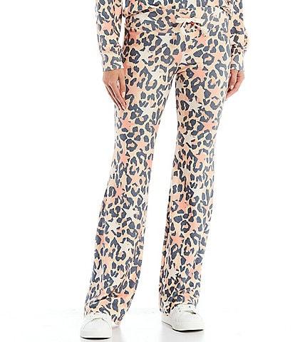 WILDFOX Leopard Stars and Spots Coordinating Straight Leg Tennis Pants